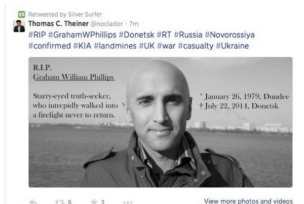 Graham Phillips, alive and well in Poland today.