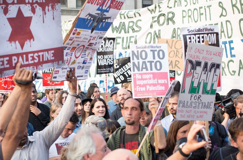 The un-publicized NATO Summit protests - courtesy Anna Beswick