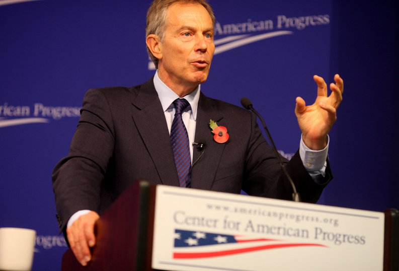 Tony Blair blares at the Center for American Progress