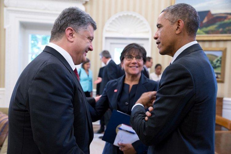 Obama and Poroshenko