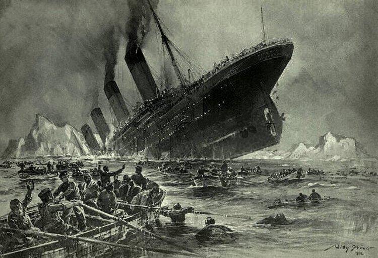 Titanic Sinking by Willy Stöwer