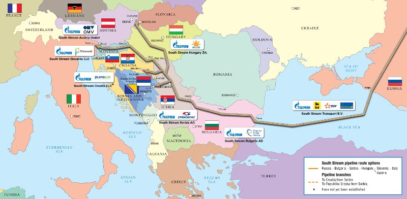 From Gazprom's South Stream project pages - Gazprom