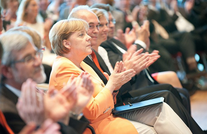 Merkel at Church