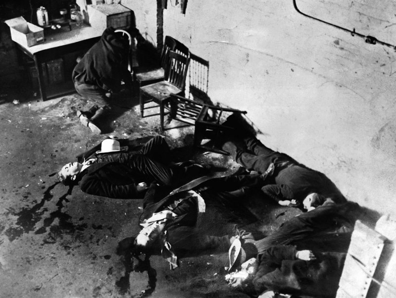 "On February 14, 1929, members of Al Capone's gang executed several rival bootleggers in a Chicago garage. This so-called ""massacre"" symbolized the violence that was prevalent in 1920s Chicago."