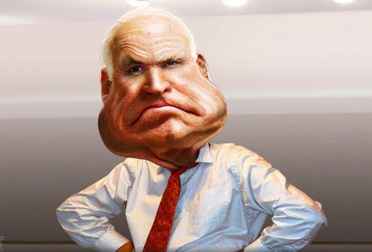 John McCain - Caricature by DonkeyHotey
