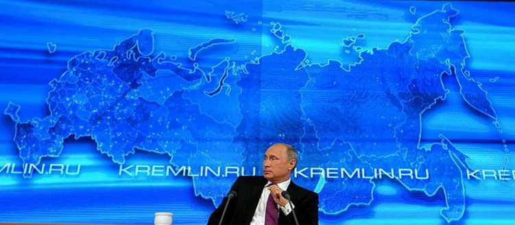 At a news conference of Vladimir Putin - Kremlin