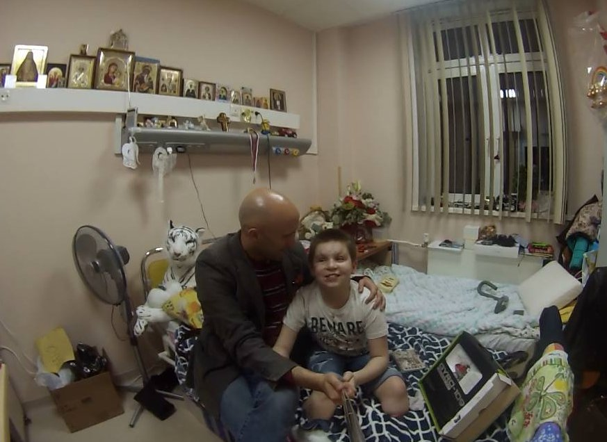 My friend Graham Phillips, the only real journalist in Ukraine, as he visits young Vanya whose life was shattered by shelling from the Kiev junta.