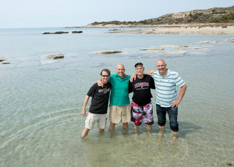 The boys at Elafanisi beach in the extreme west of Crete - 2014