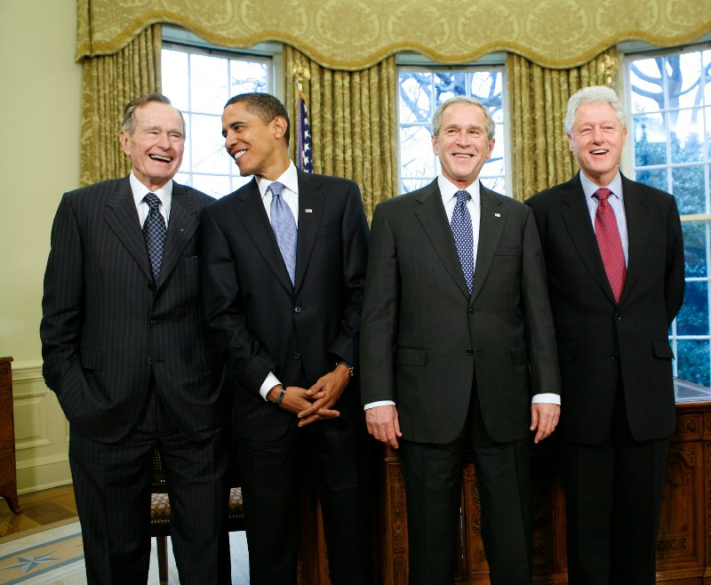 Bush, Obama, Clinton, Bush