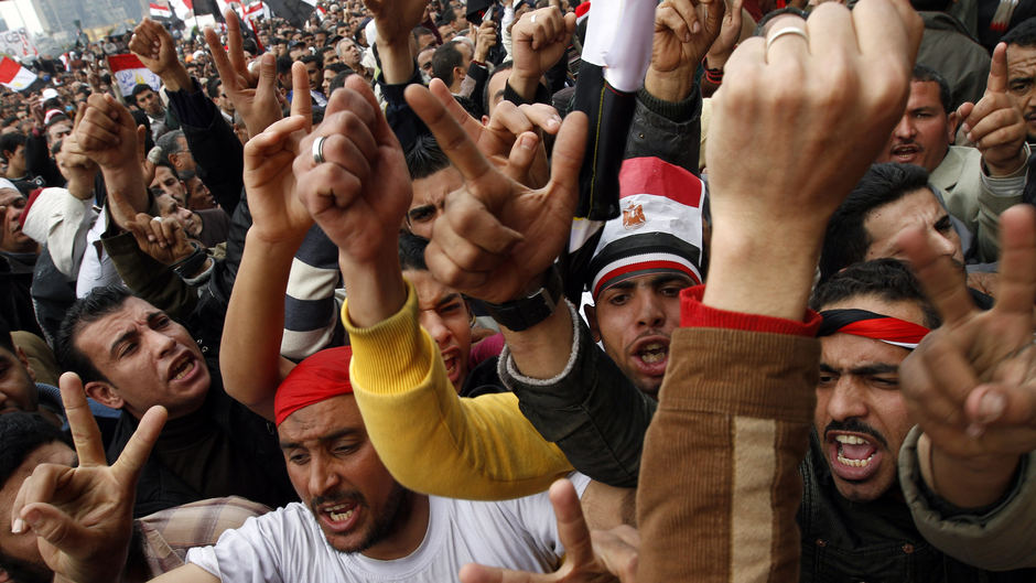 Egypt protests in the wake of Arab Spring, Tunisia, and Libya turmoil