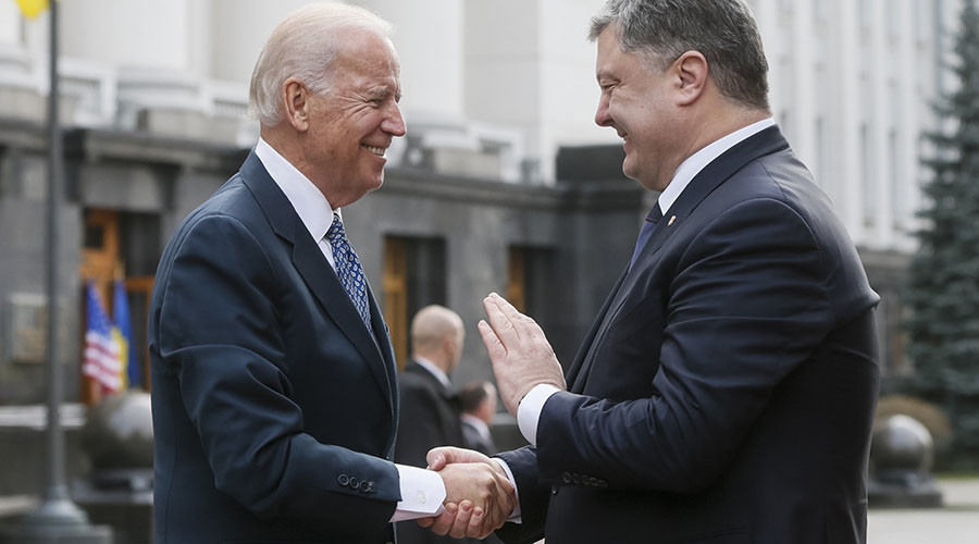 Biden with Poroshenko