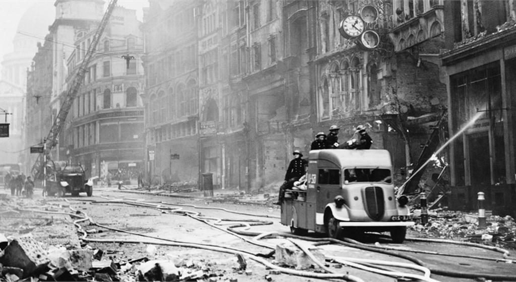 London burns under the German blitz, increased bombing would have left the city uninhabitable