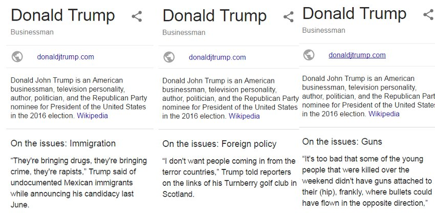"I searched ""Trump"" 100 times - and these quotes appear prevalently"