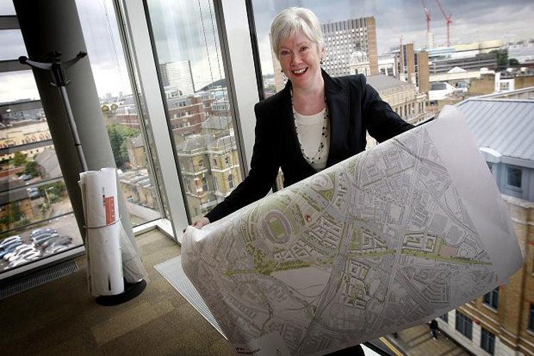 Baroness Margaret Ford in her offices overlooking London's Olympic Park