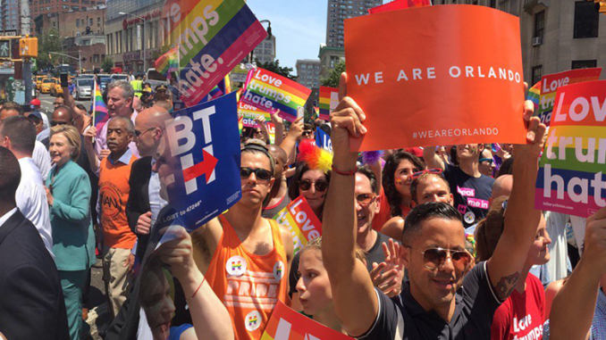 New York gays in support of Hillary, and hating Trump
