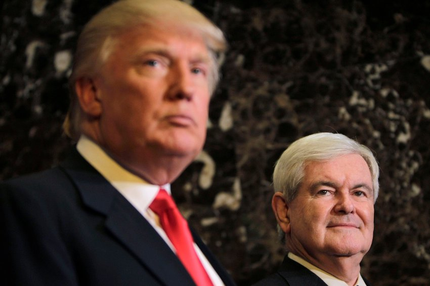President-elect Donald Trump and former Speaker Gingrich