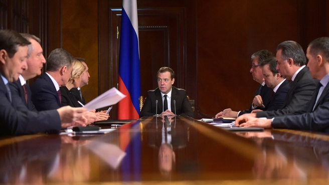 Medvedev meeting with deputy prime ministers