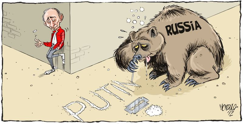 Cartoon of Putin